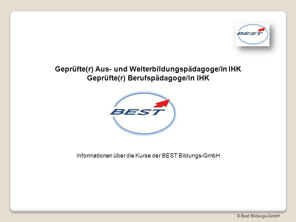 Informationen über die Kurse der BEST Bildungs-GmbH