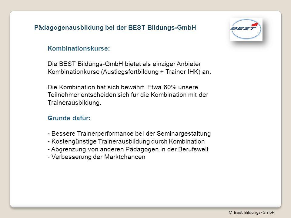 Pädagogenausbildung bei der BEST Bildungs-GmbH