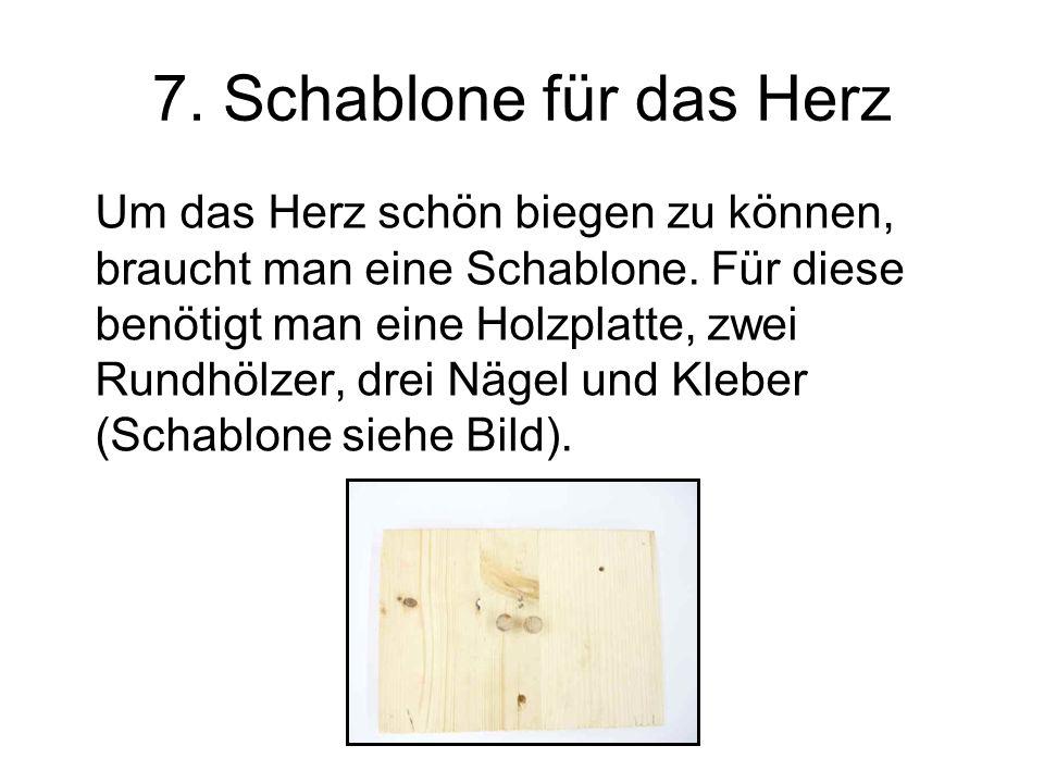 7. Schablone für das Herz