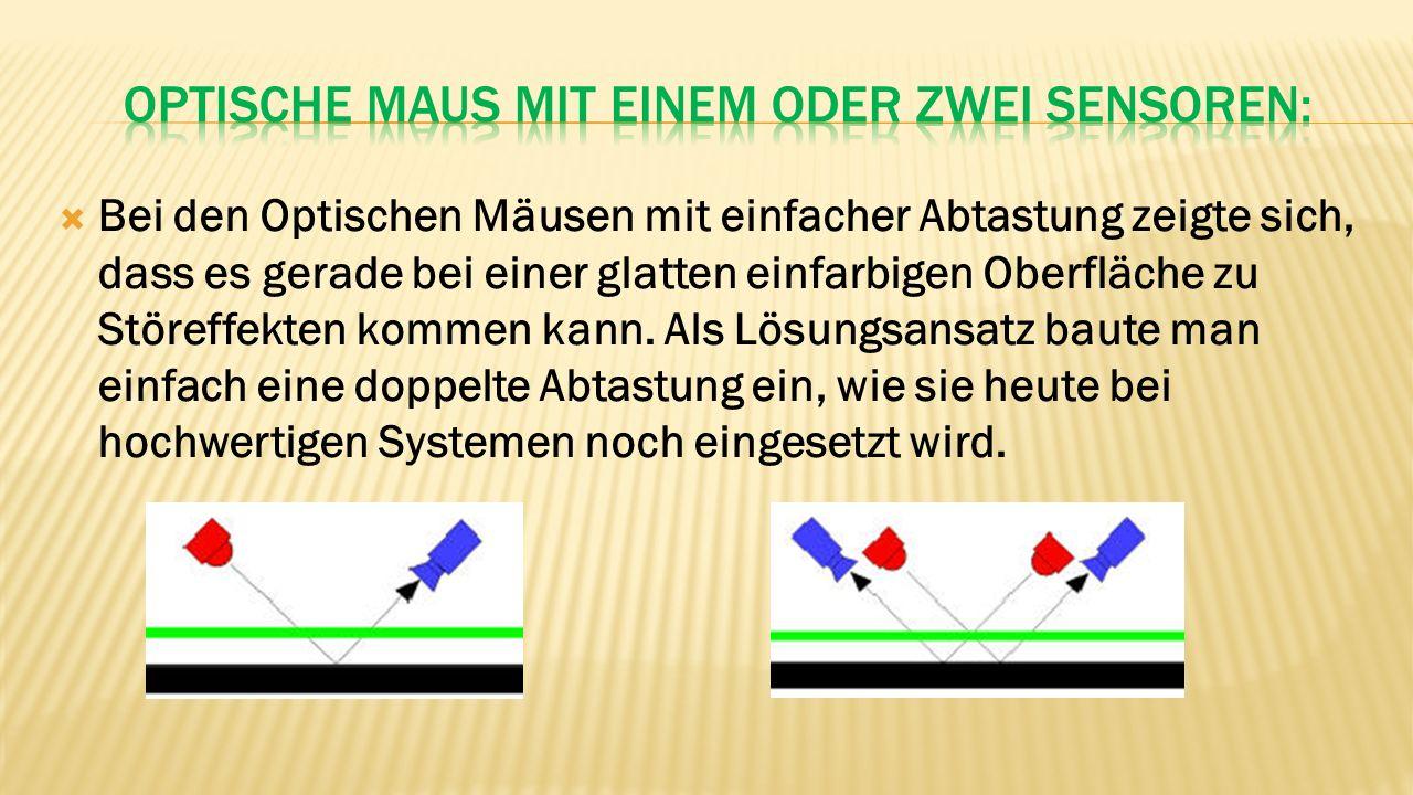 Optische Maus mit einem oder zwei sensoren: