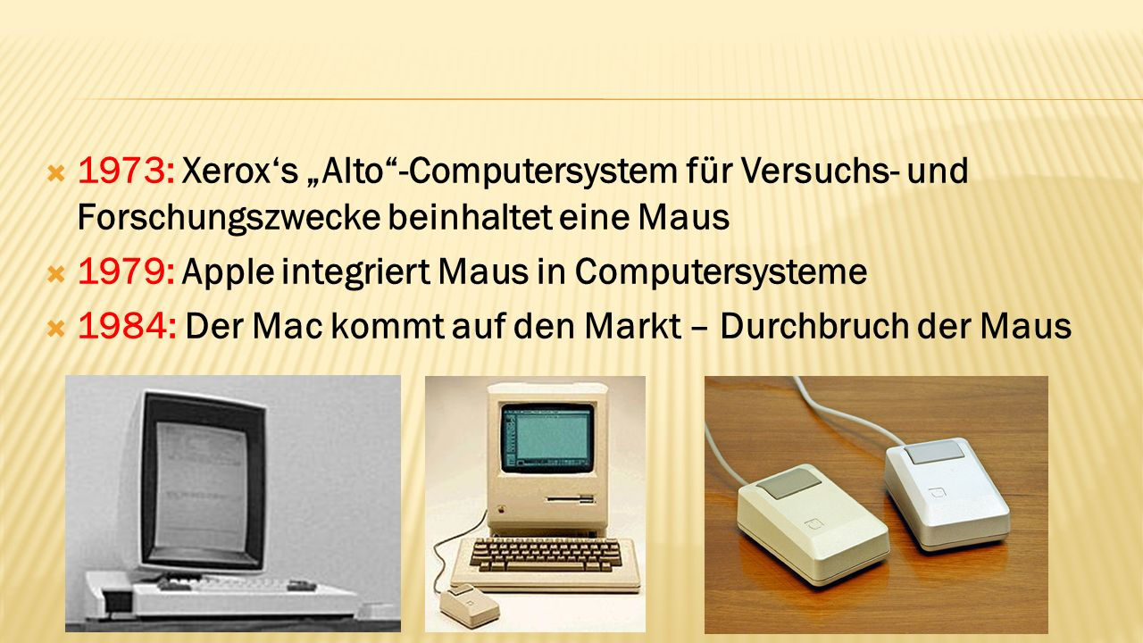 1979: Apple integriert Maus in Computersysteme