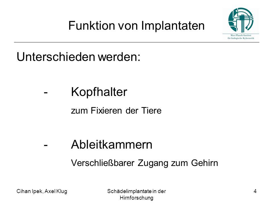 Funktion von Implantaten