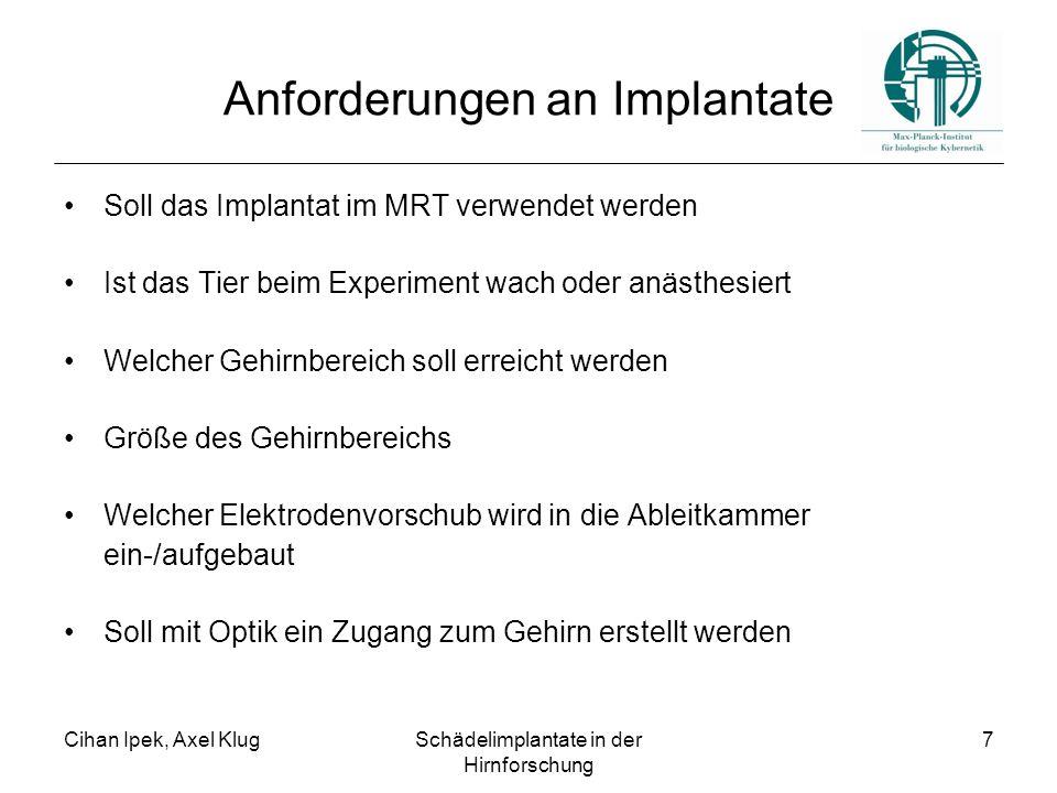 Anforderungen an Implantate