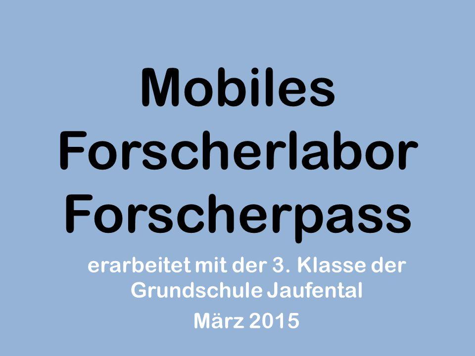 Mobiles Forscherlabor Forscherpass
