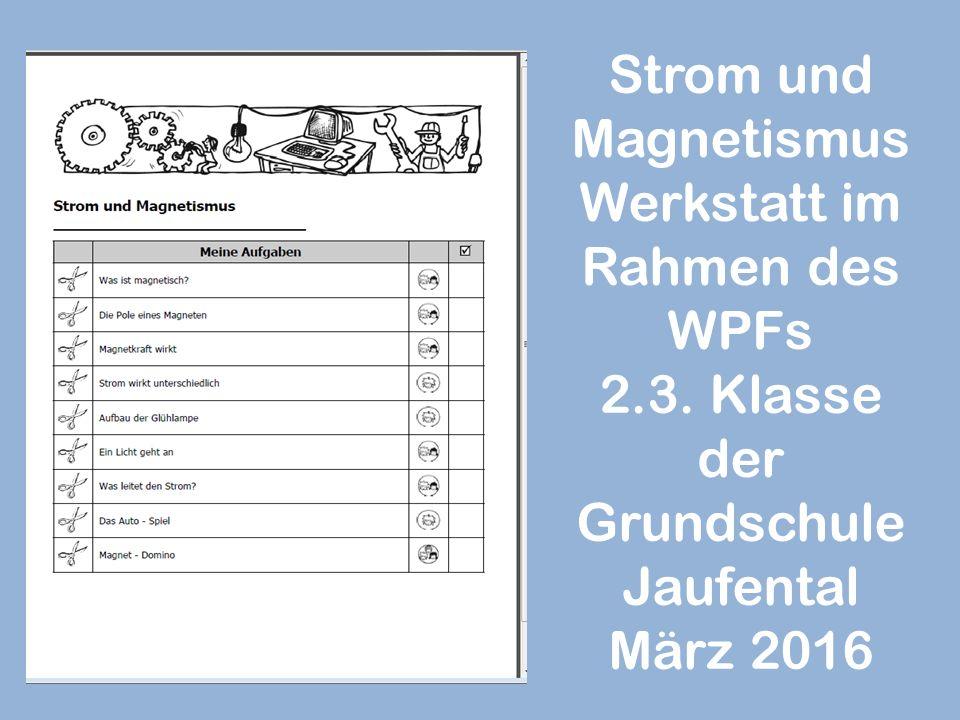 Strom und Magnetismus Werkstatt im Rahmen des WPFs 2. 3