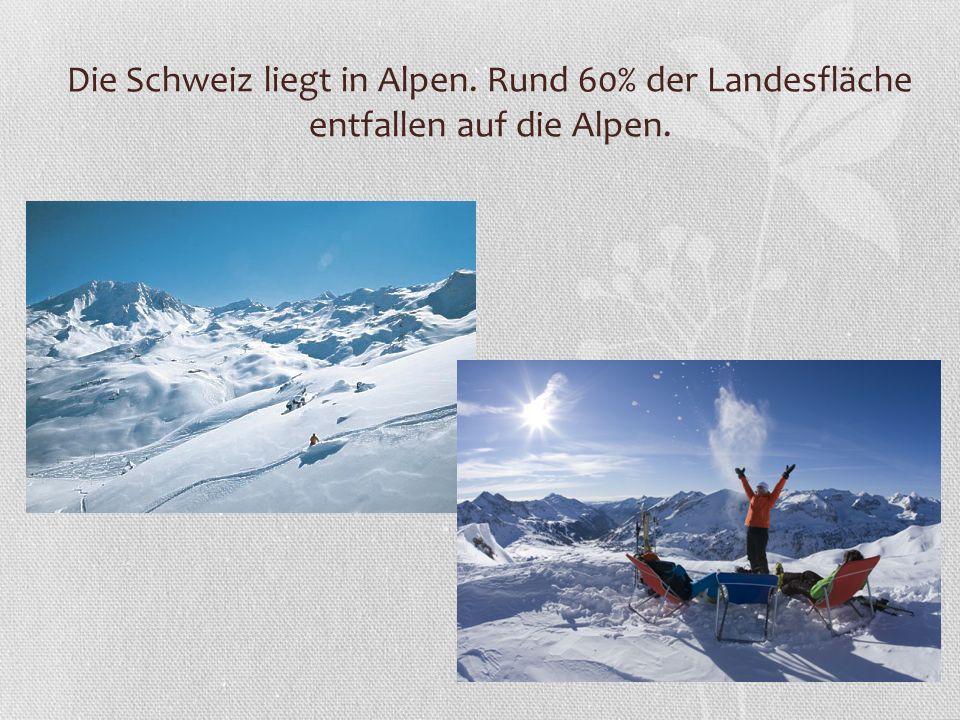 Die Schweiz liegt in Alpen