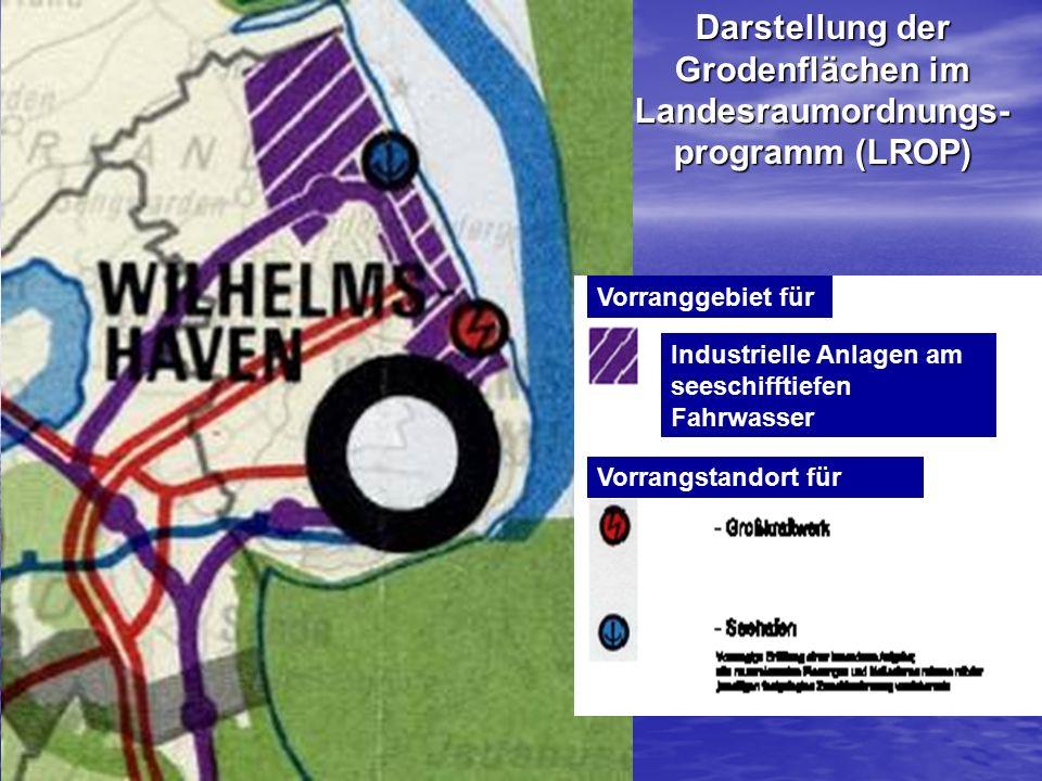 Darstellung der Grodenflächen im Landesraumordnungs-programm (LROP)
