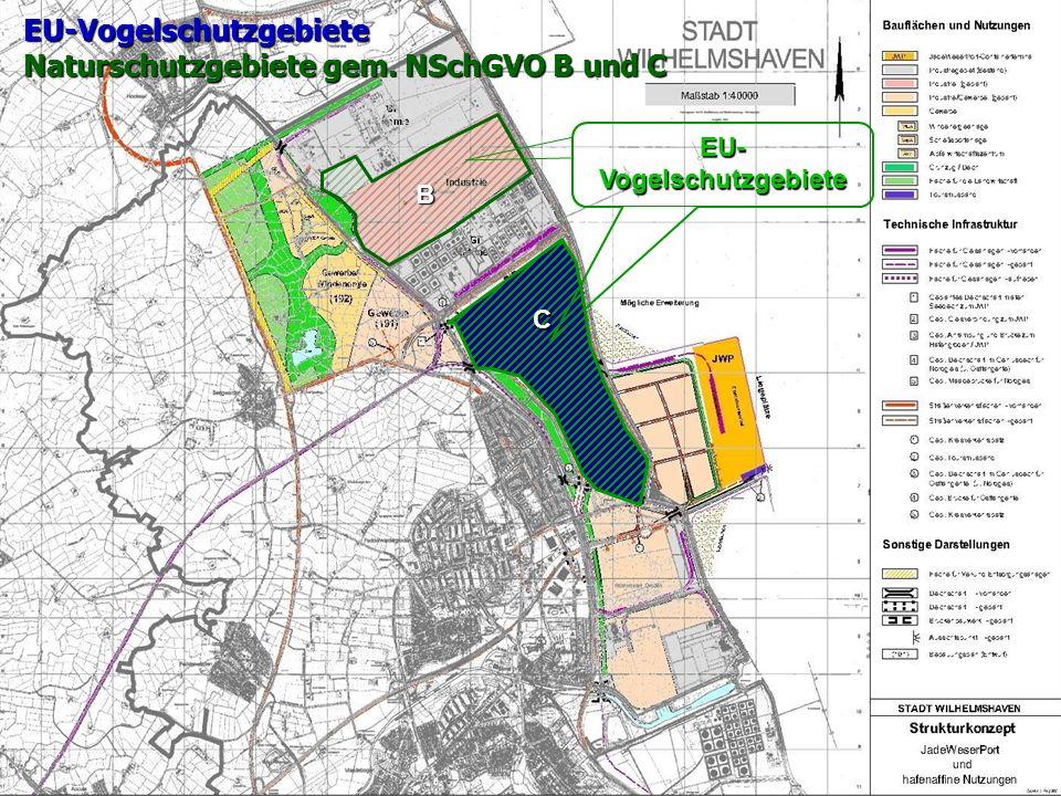 EU-Vogelschutzgebiete Naturschutzgebiete gem. NSchGVO B und C