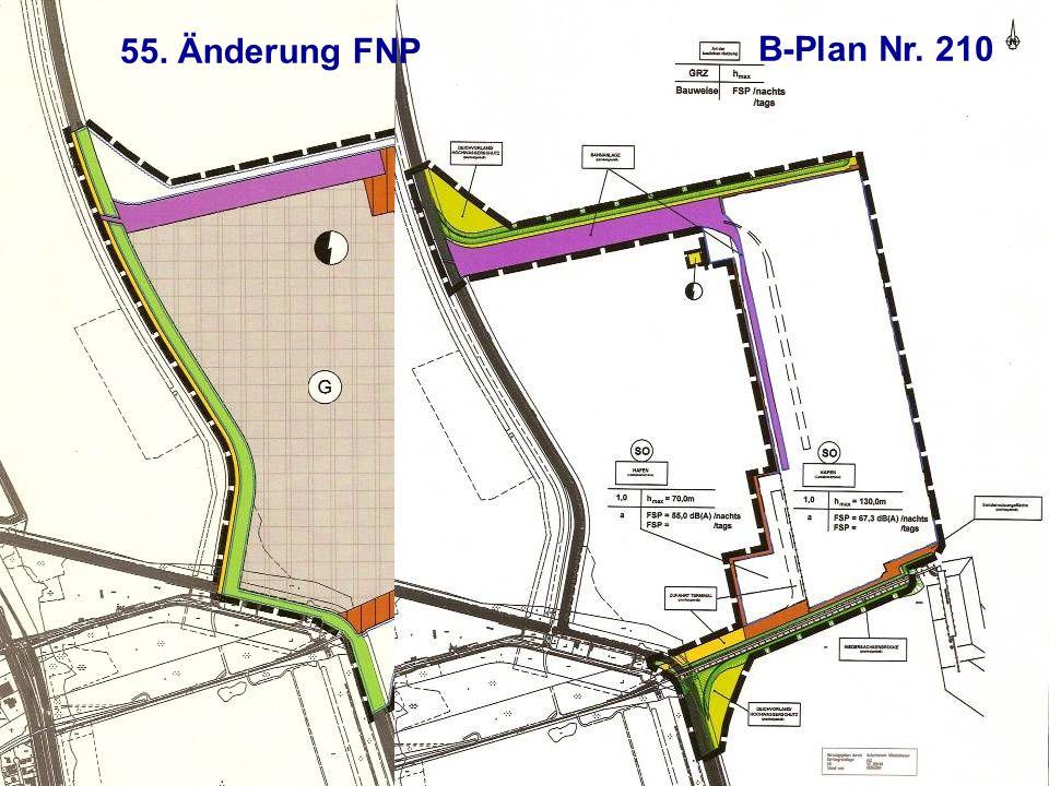 55. Änderung FNP B-Plan Nr. 210