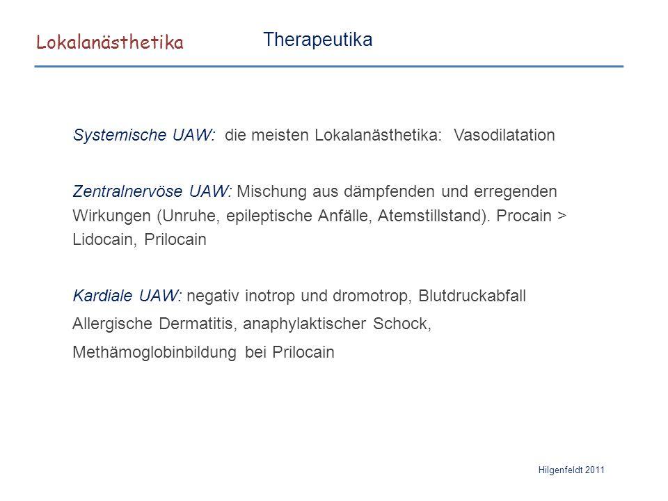 Lokalanästhetika Therapeutika