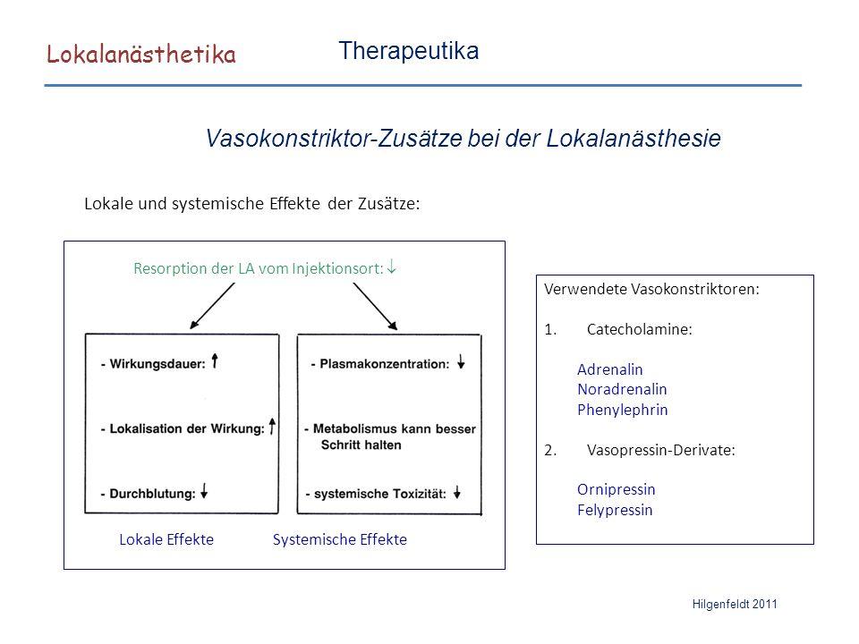 Vasokonstriktor-Zusätze bei der Lokalanästhesie