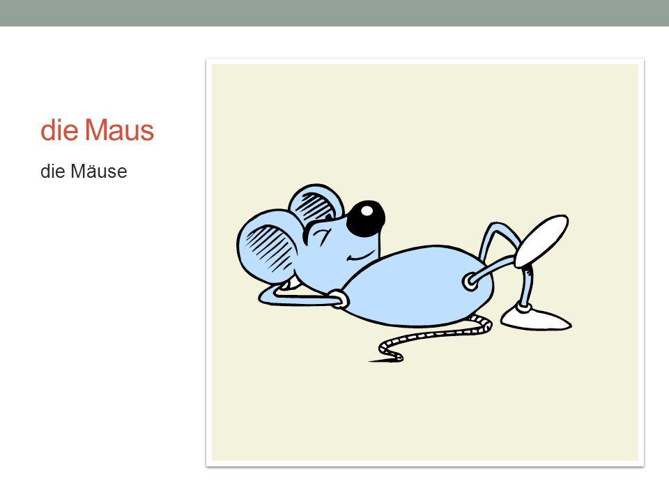 die Maus die Mäuse