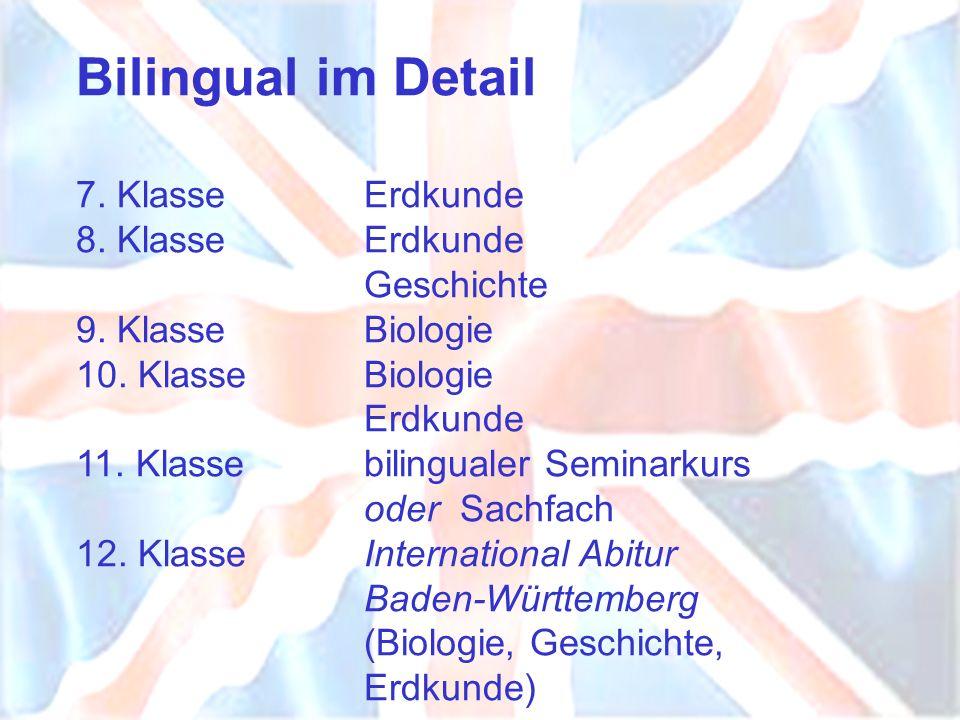 Bilingual im Detail 7. Klasse. Erdkunde 8. Klasse. Erdkunde
