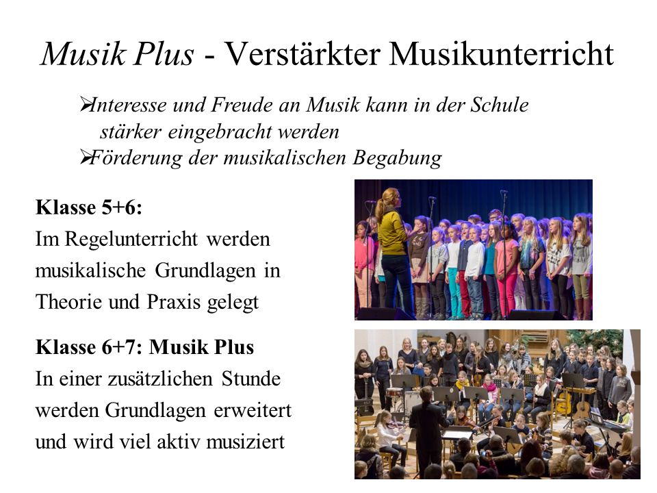 Musik Plus - Verstärkter Musikunterricht