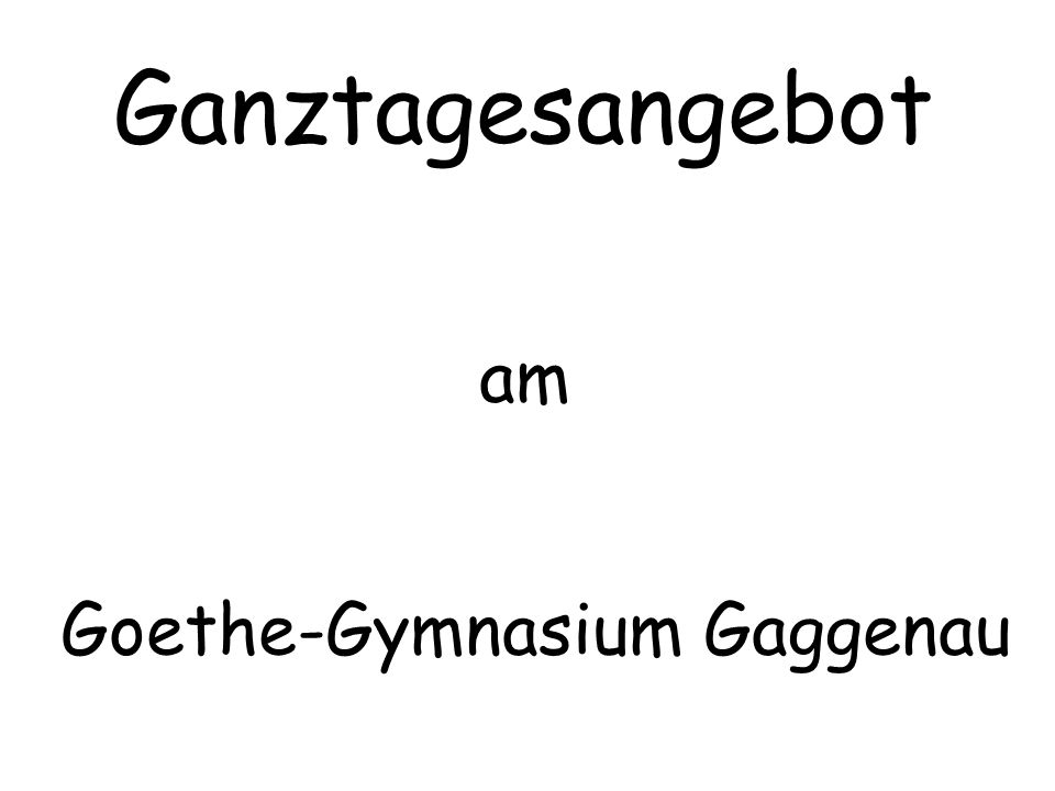 Goethe-Gymnasium Gaggenau