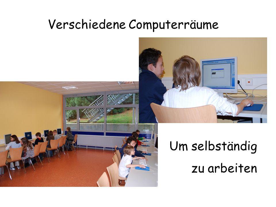 Verschiedene Computerräume