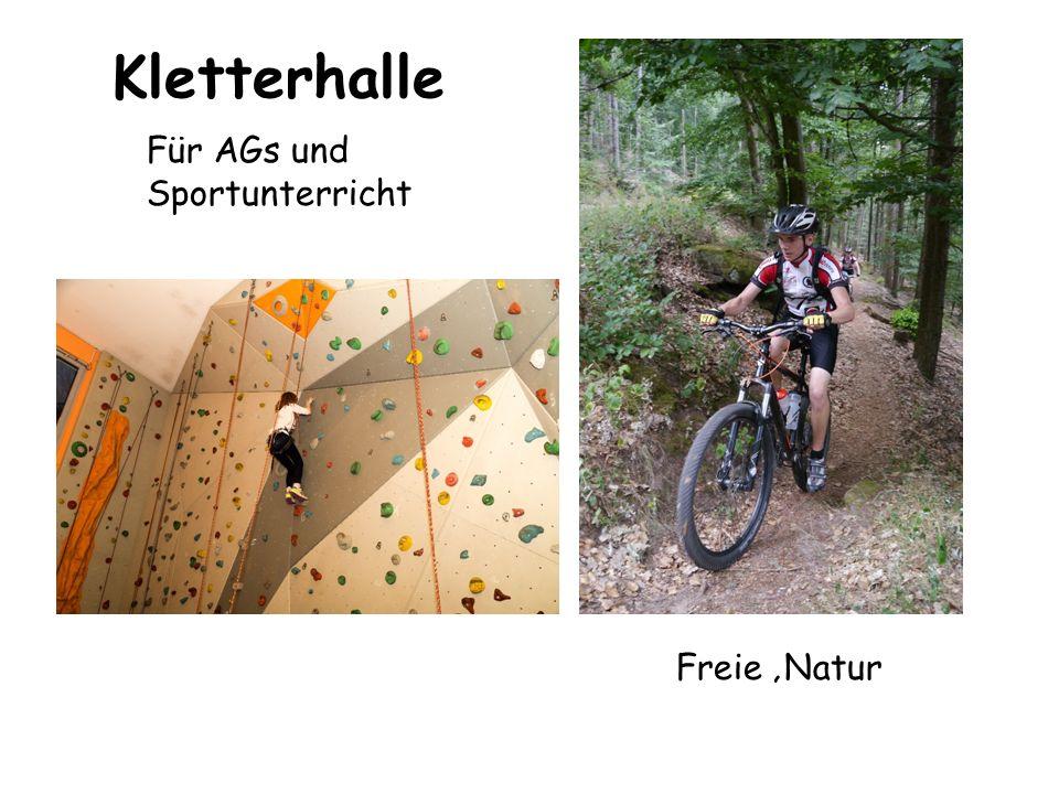 Kletterhalle Für AGs und Sportunterricht Freie 'Natur