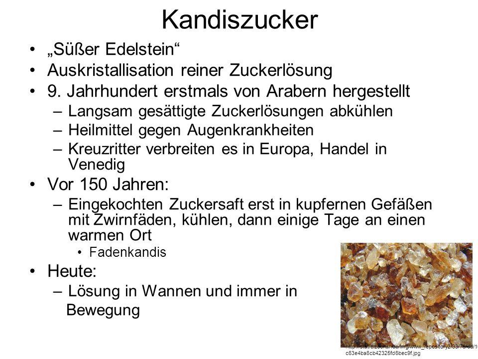 """Kandiszucker """"Süßer Edelstein Auskristallisation reiner Zuckerlösung"""