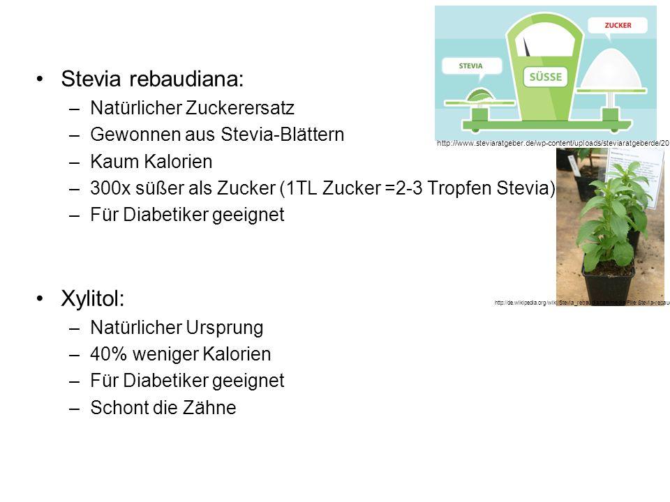 Stevia rebaudiana: Xylitol: Natürlicher Zuckerersatz