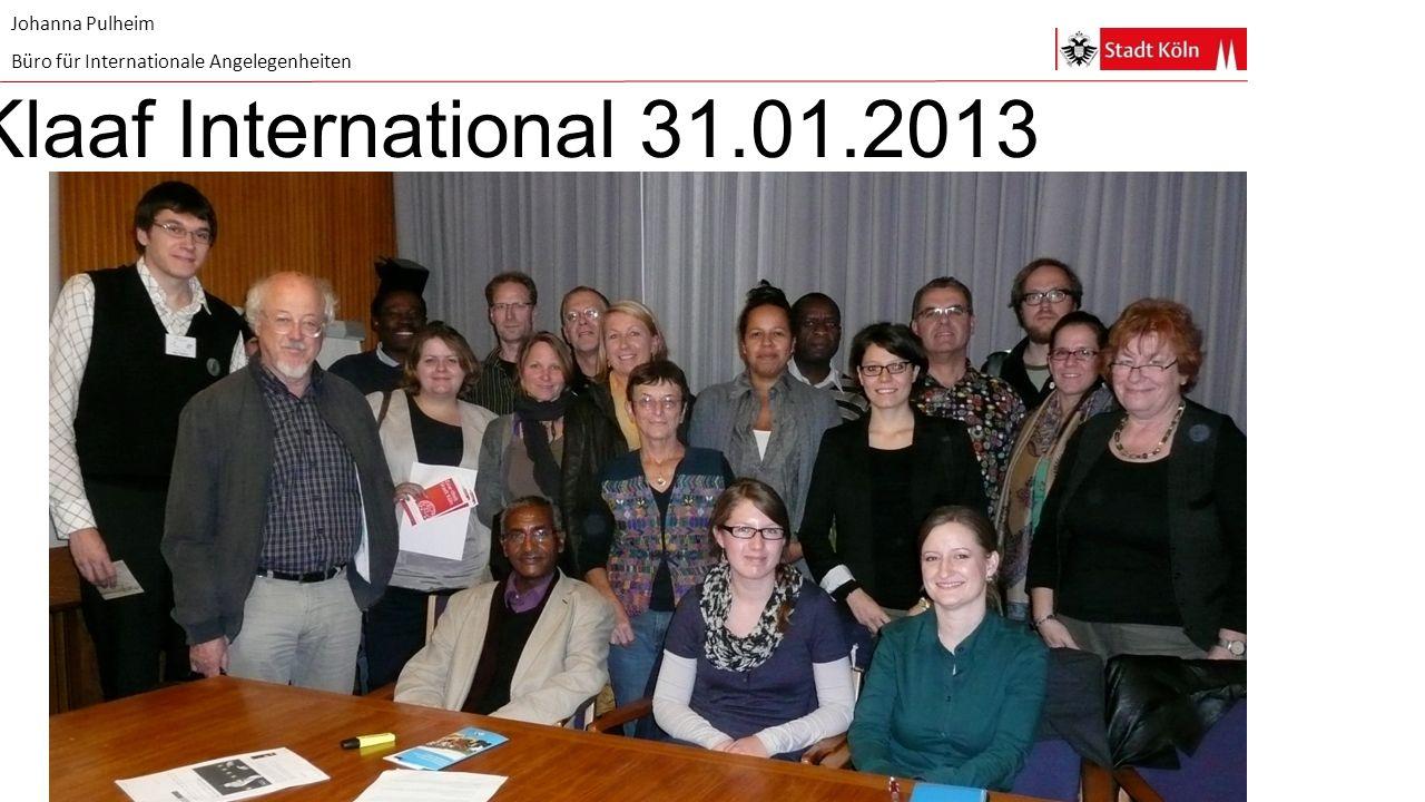 Johanna Pulheim Büro für Internationale Angelegenheiten