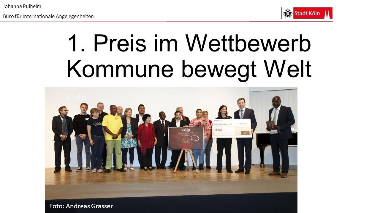 1. Preis im Wettbewerb Kommune bewegt Welt