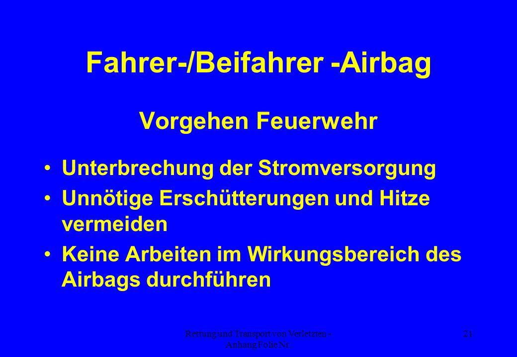 Fahrer-/Beifahrer -Airbag