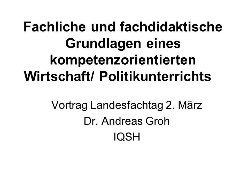 Vortrag Landesfachtag 2. März Dr. Andreas Groh IQSH