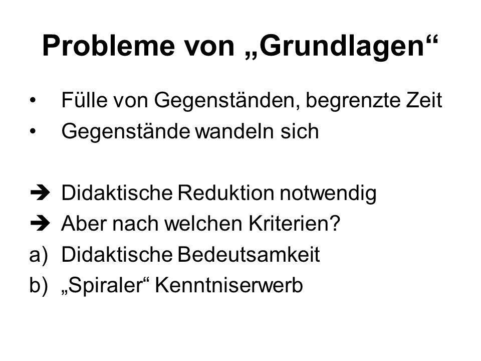 """Probleme von """"Grundlagen"""