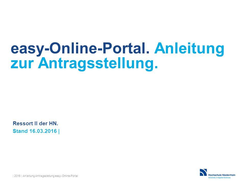 easy-Online-Portal. Anleitung zur Antragsstellung.