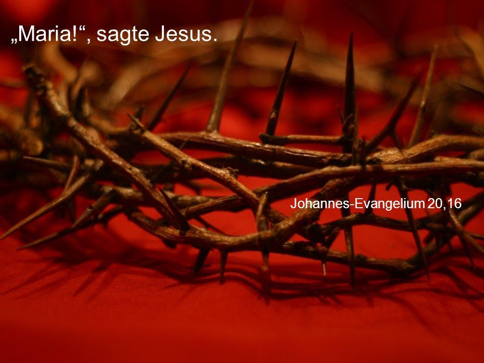"""Maria! , sagte Jesus. Johannes-Evangelium 20,16"