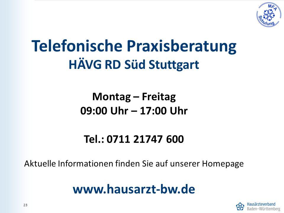 Telefonische Praxisberatung