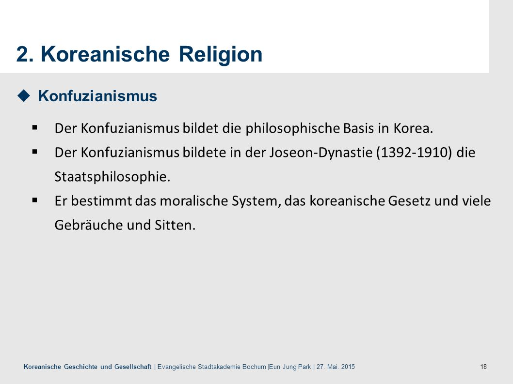 2. Koreanische Religion Konfuzianismus