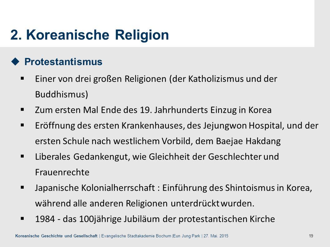 2. Koreanische Religion Protestantismus
