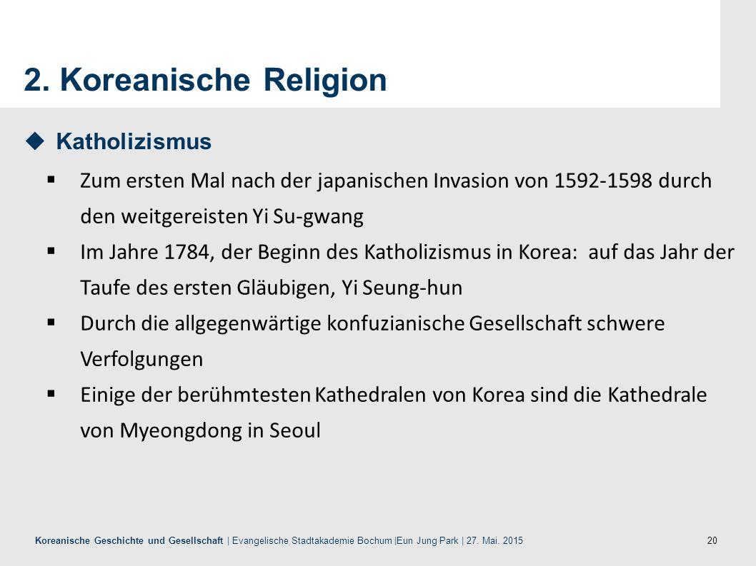 2. Koreanische Religion Katholizismus