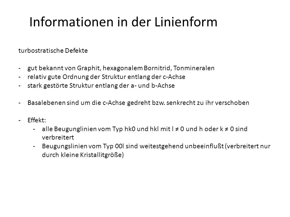 Informationen in der Linienform
