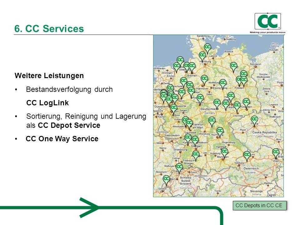 6. CC Services Weitere Leistungen Bestandsverfolgung durch CC LogLink