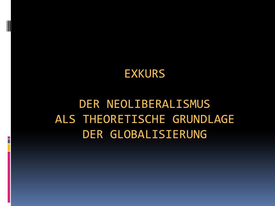 Exkurs Der Neoliberalismus als theoretische Grundlage der Globalisierung