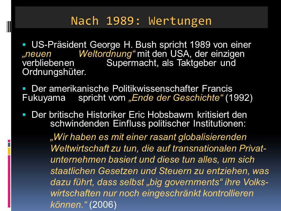 Nach 1989: Wertungen