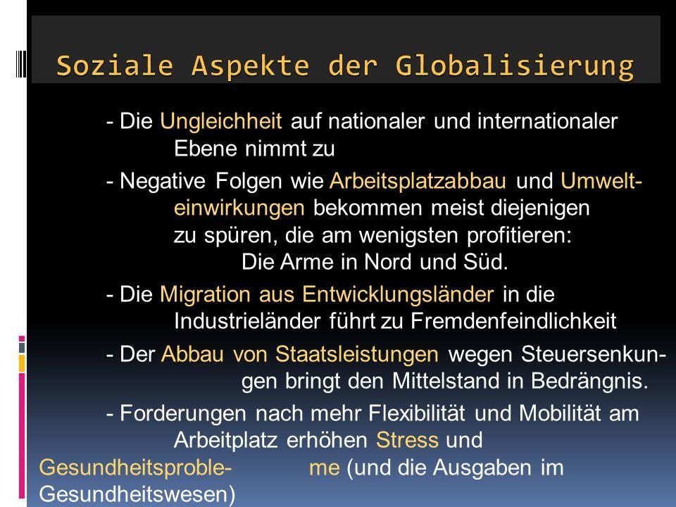 Soziale Aspekte der Globalisierung