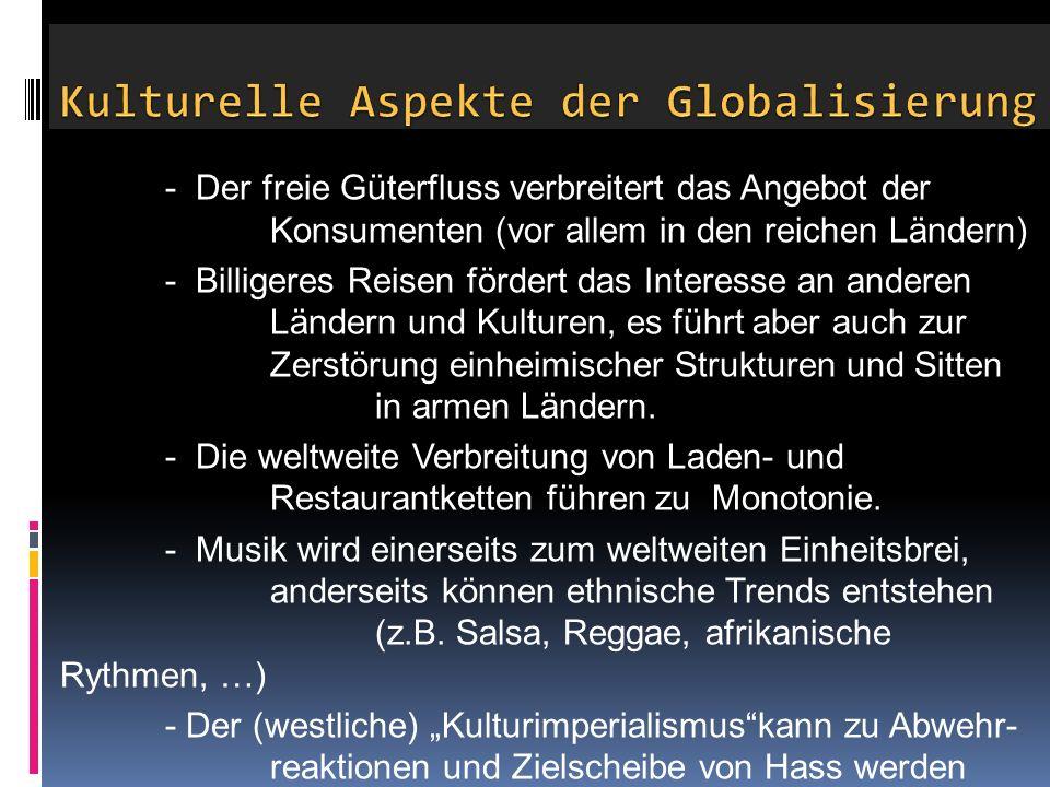 Kulturelle Aspekte der Globalisierung