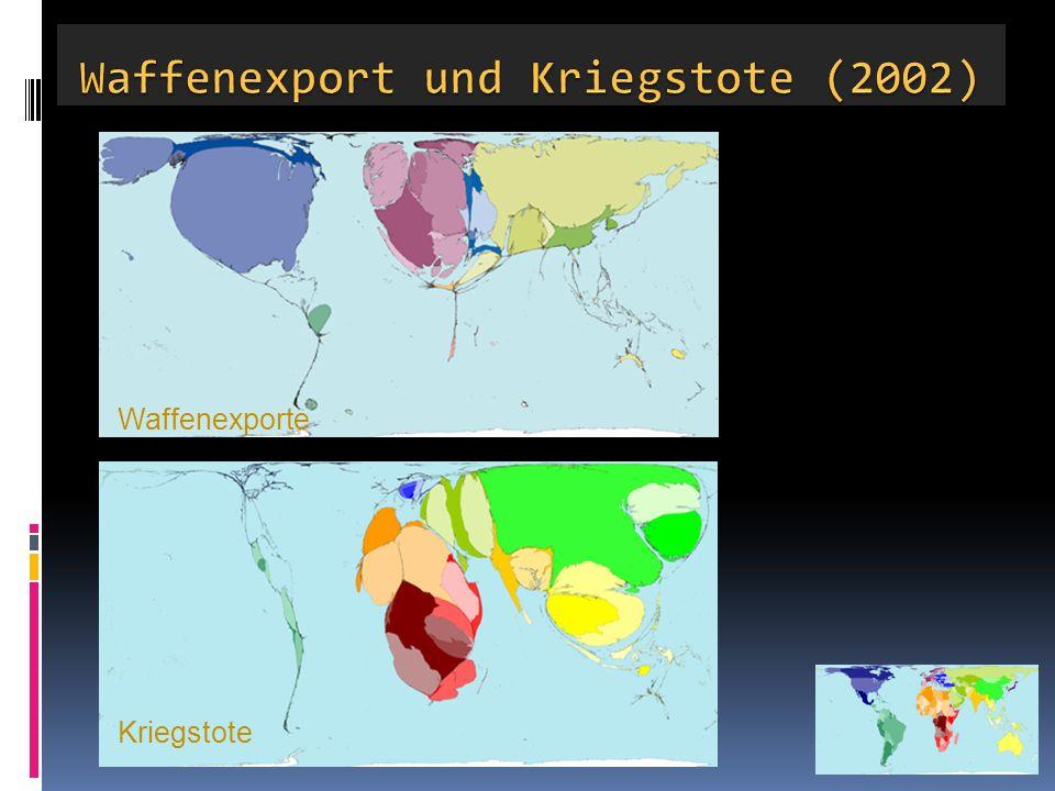 Waffenexport und Kriegstote (2002)