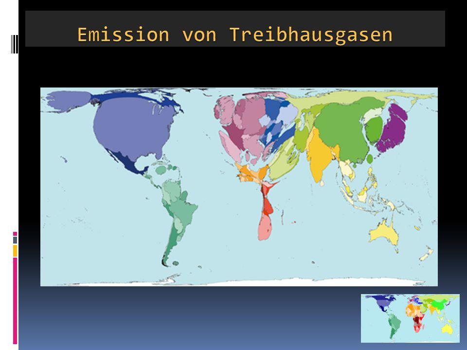Emission von Treibhausgasen