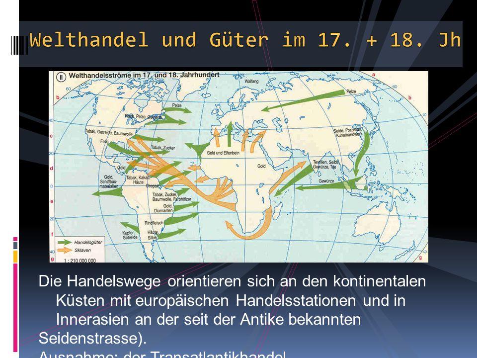 Welthandel und Güter im 17. + 18. Jh