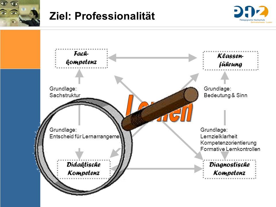 Ziel: Professionalität