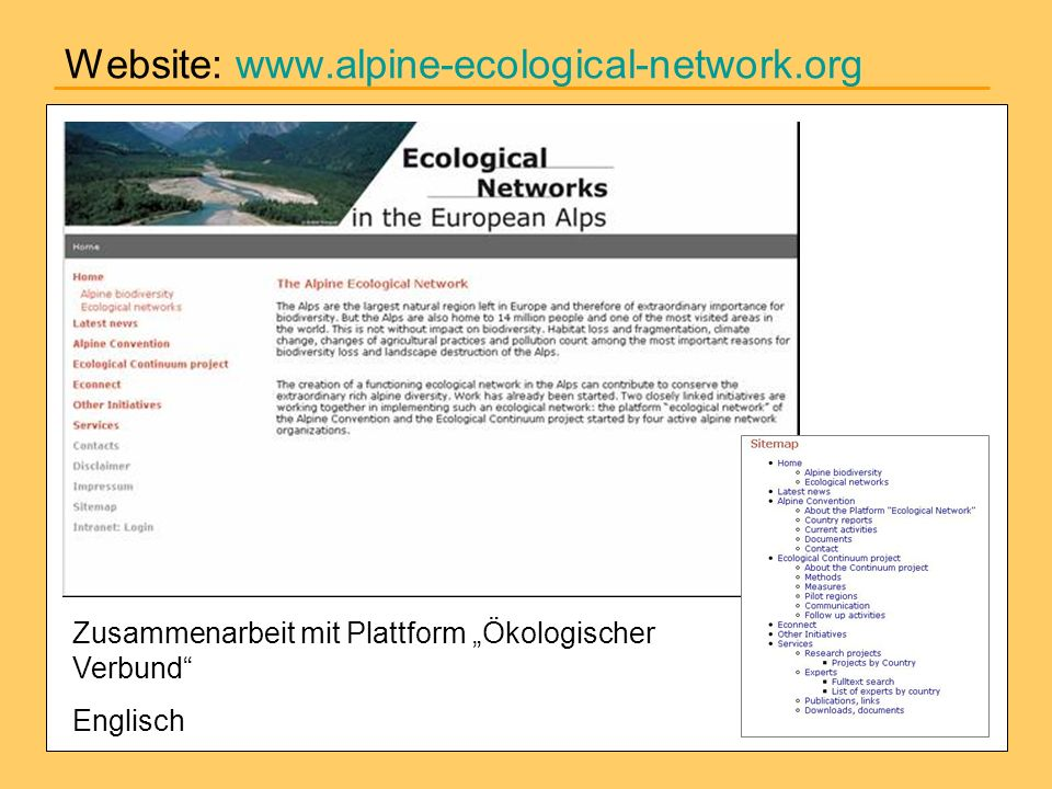 Website: www.alpine-ecological-network.org