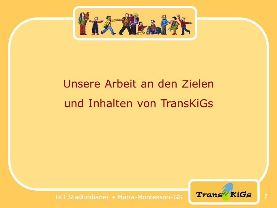 Unsere Arbeit an den Zielen und Inhalten von TransKiGs