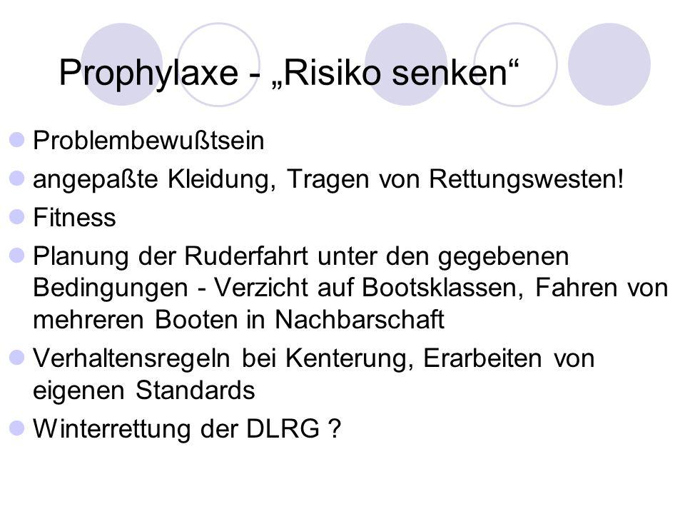 """Prophylaxe - """"Risiko senken"""