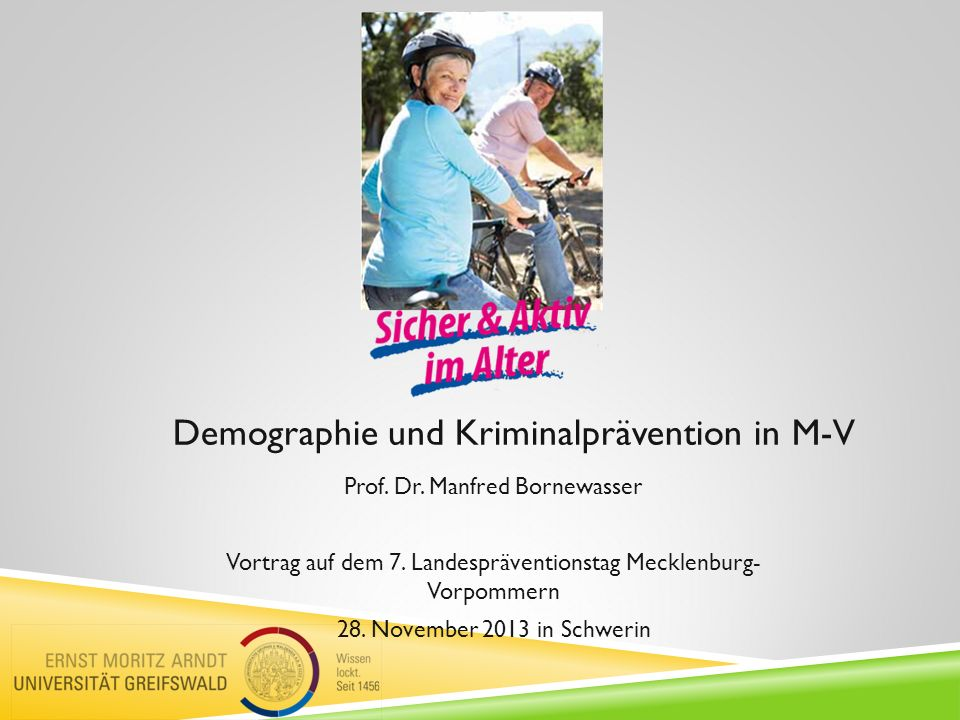 Demographie und Kriminalprävention in M-V