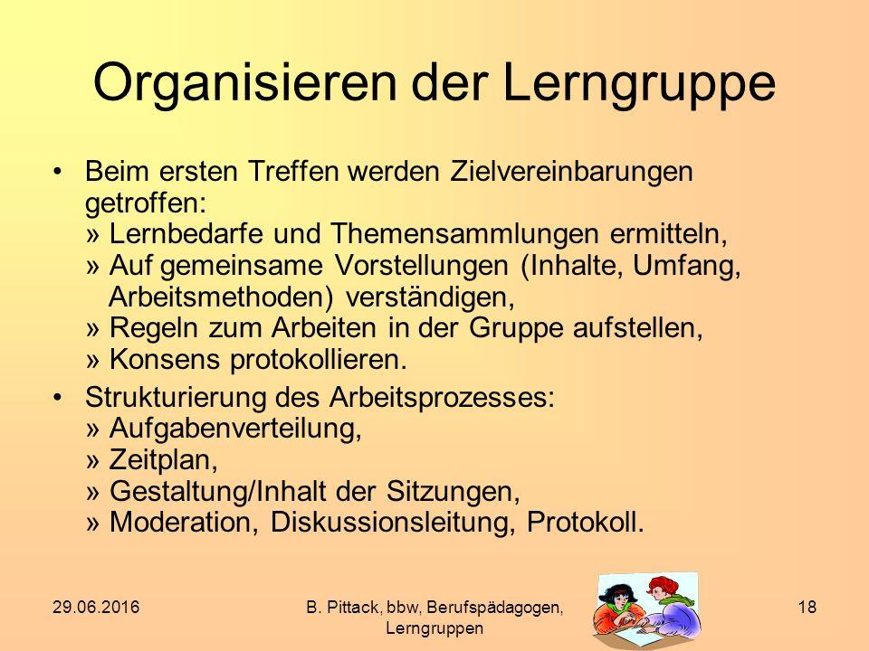 Organisieren der Lerngruppe