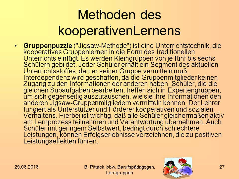Methoden des kooperativenLernens
